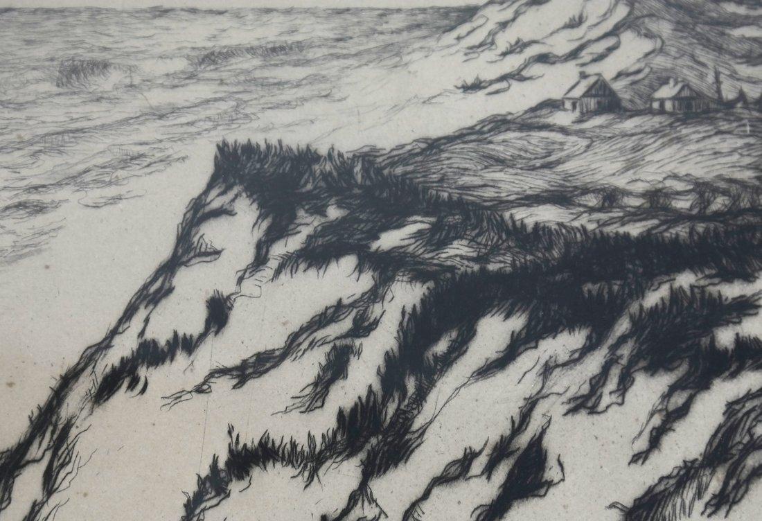 Two Zella de Milhau Landscape Etchings - 6