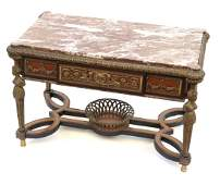 EmpireStyle Bronze  Marble Top Table