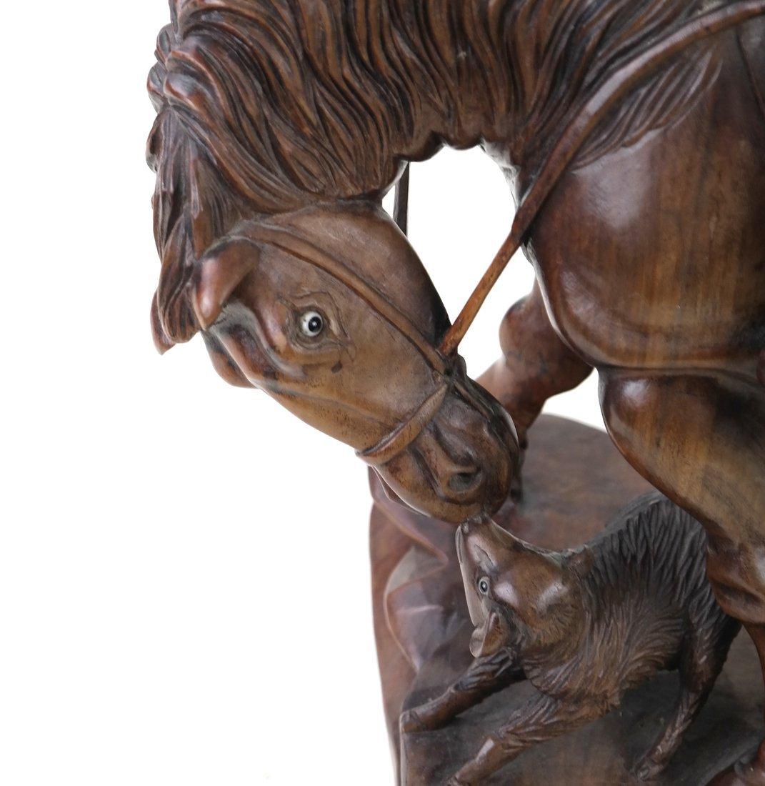 Asian Carved Hardwood Figural Group - 2