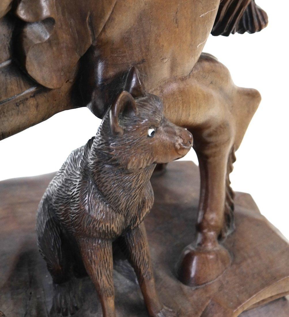Asian Carved Hardwood Figural Group - 4