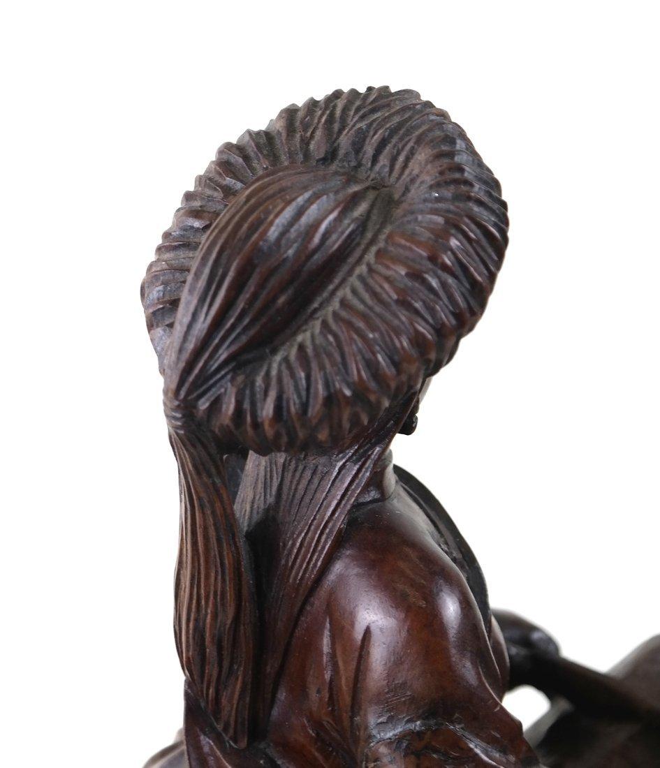 Asian Carved Hardwood Figural Group - 7