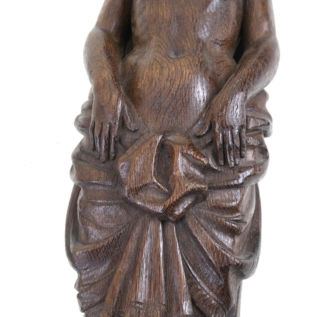 Carved Hardwood Caryatid Applique - 4
