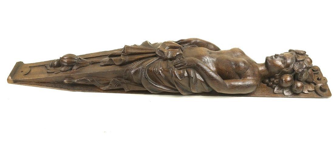 Carved Hardwood Caryatid Applique - 5