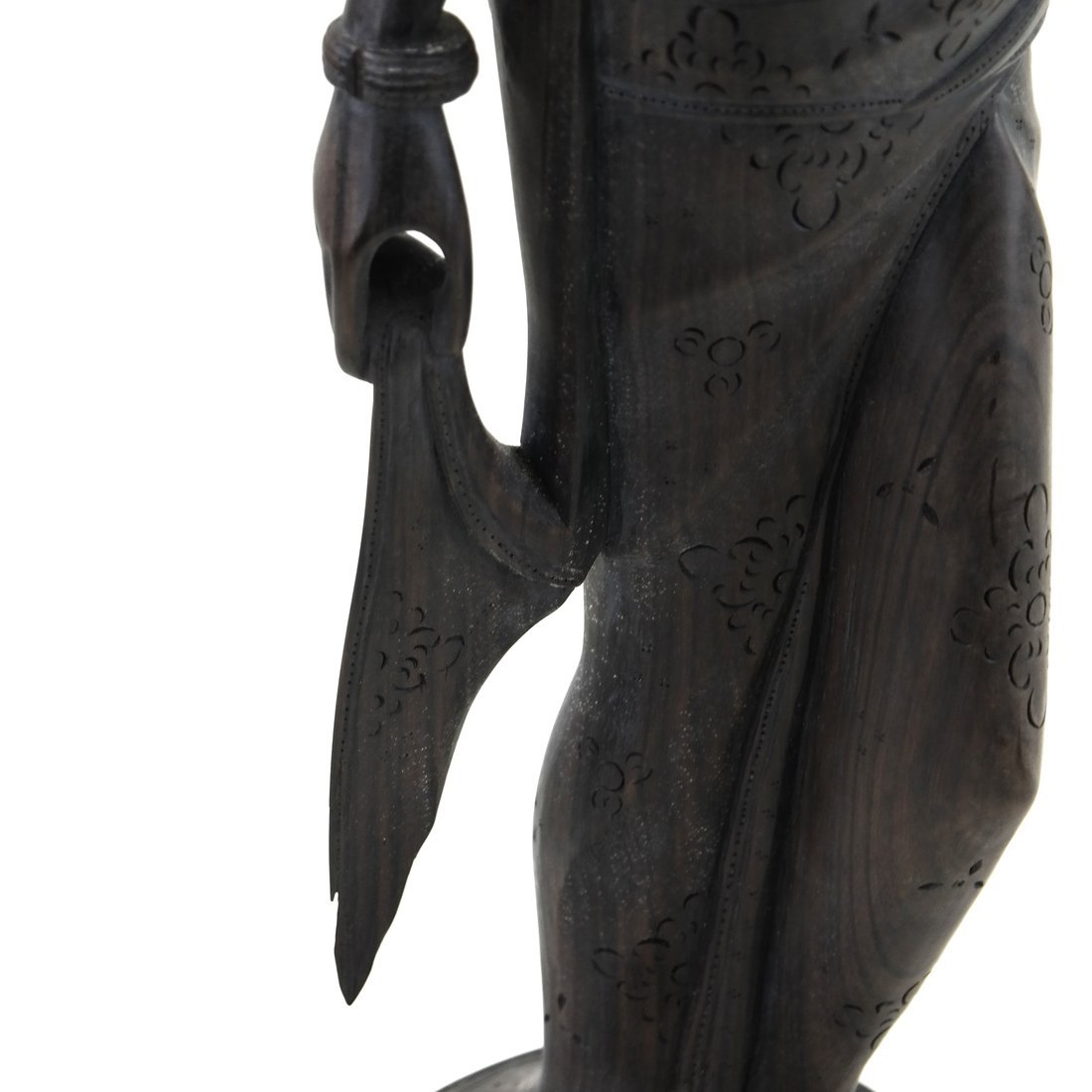 Carved Balinese Female Bust - 4
