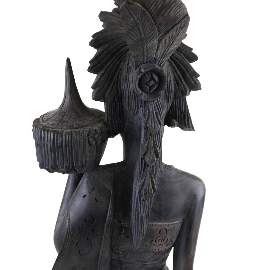 Carved Balinese Female Bust - 7