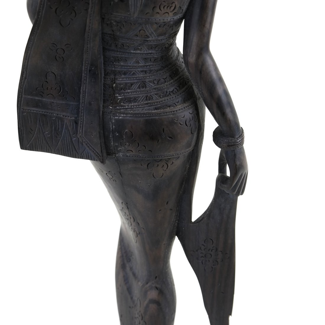 Carved Balinese Female Bust - 8