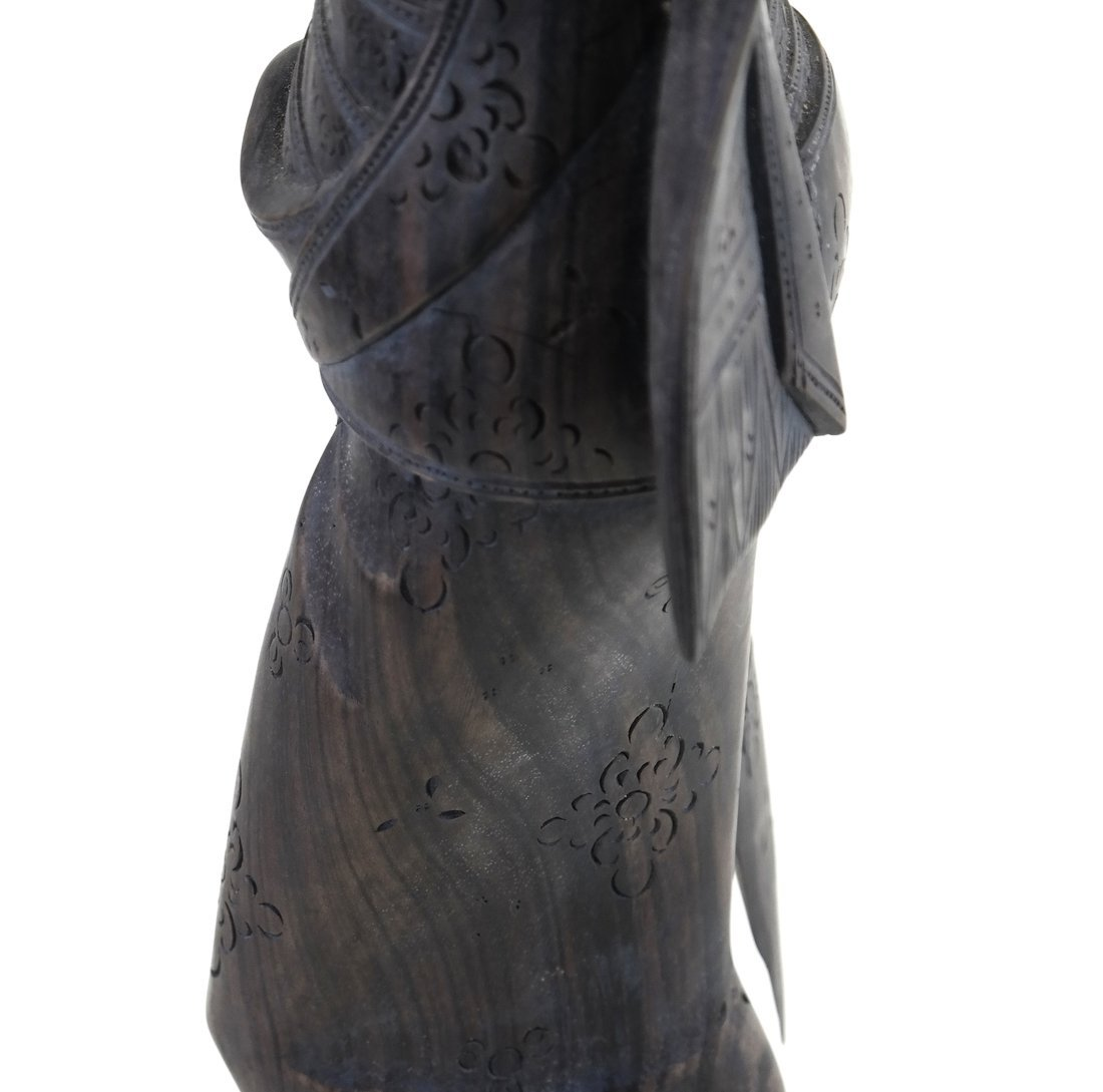 Carved Balinese Female Bust - 9