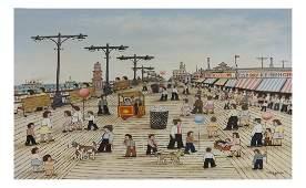 Vestie Davis, Coney Island - Oil on Canvas