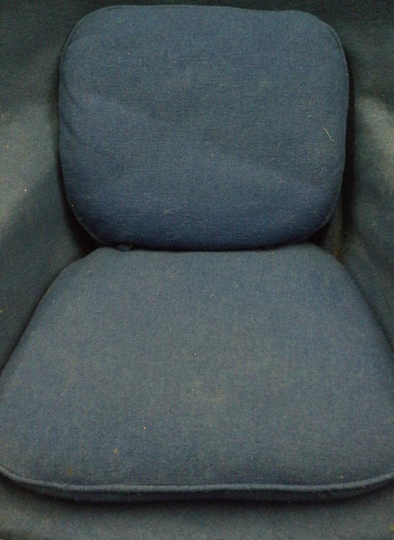 Modern Upholstered Armchair & Ottoman - 3