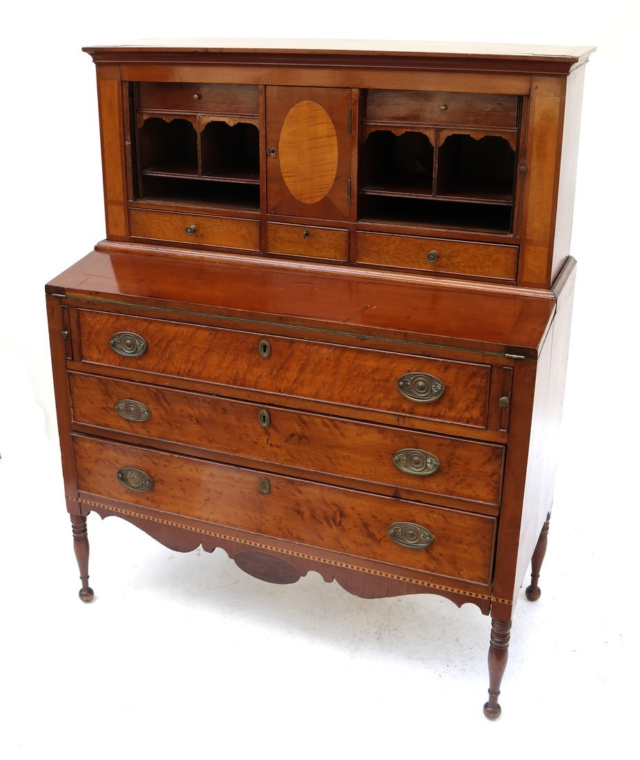 Federal-Style Two-Part Ladies' Desk