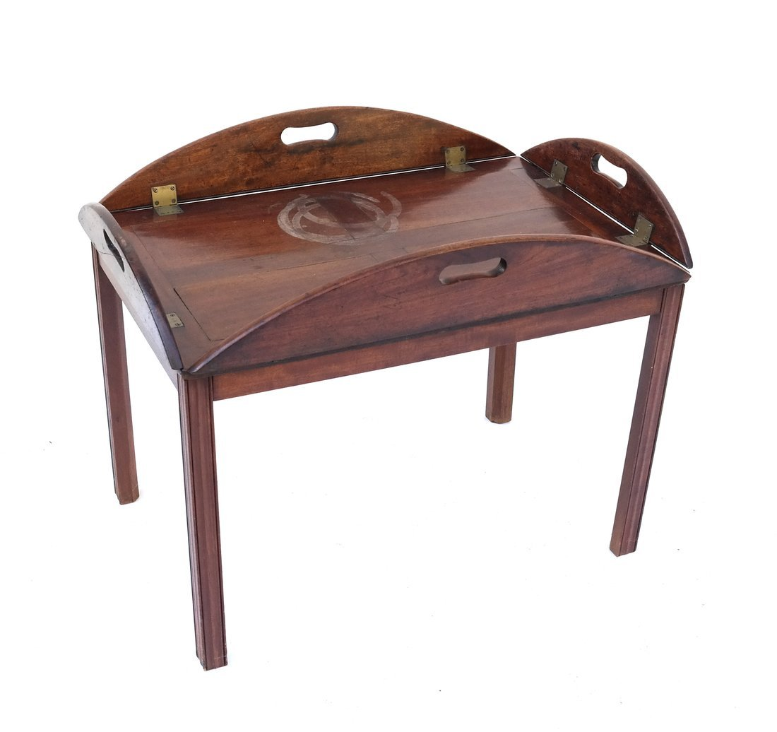 English-Style Mahogany Butler's Table