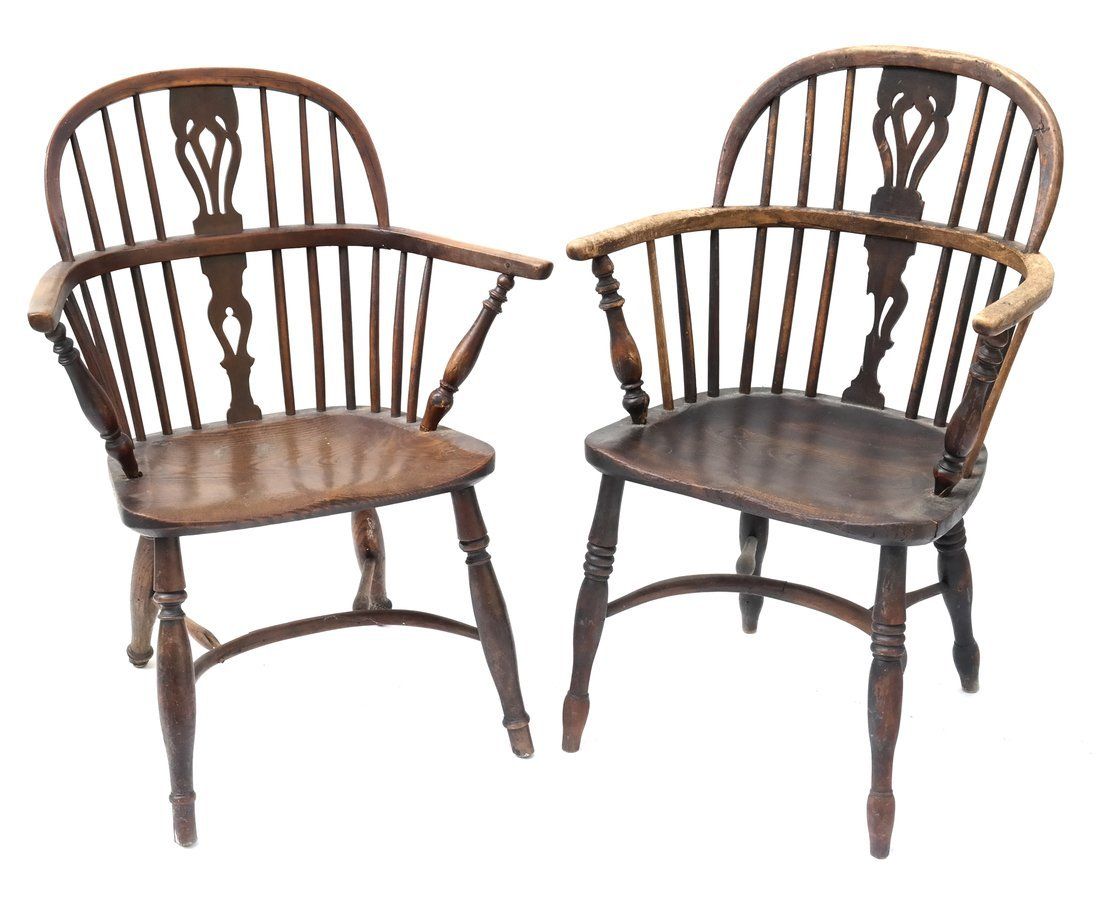 Pair of Windsor-Style Armchairs