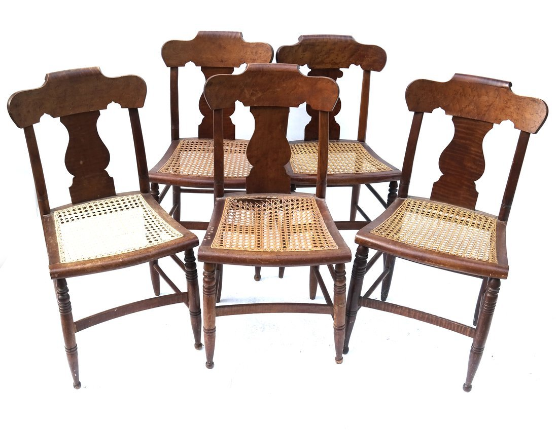 Five American Maple Side Chairs