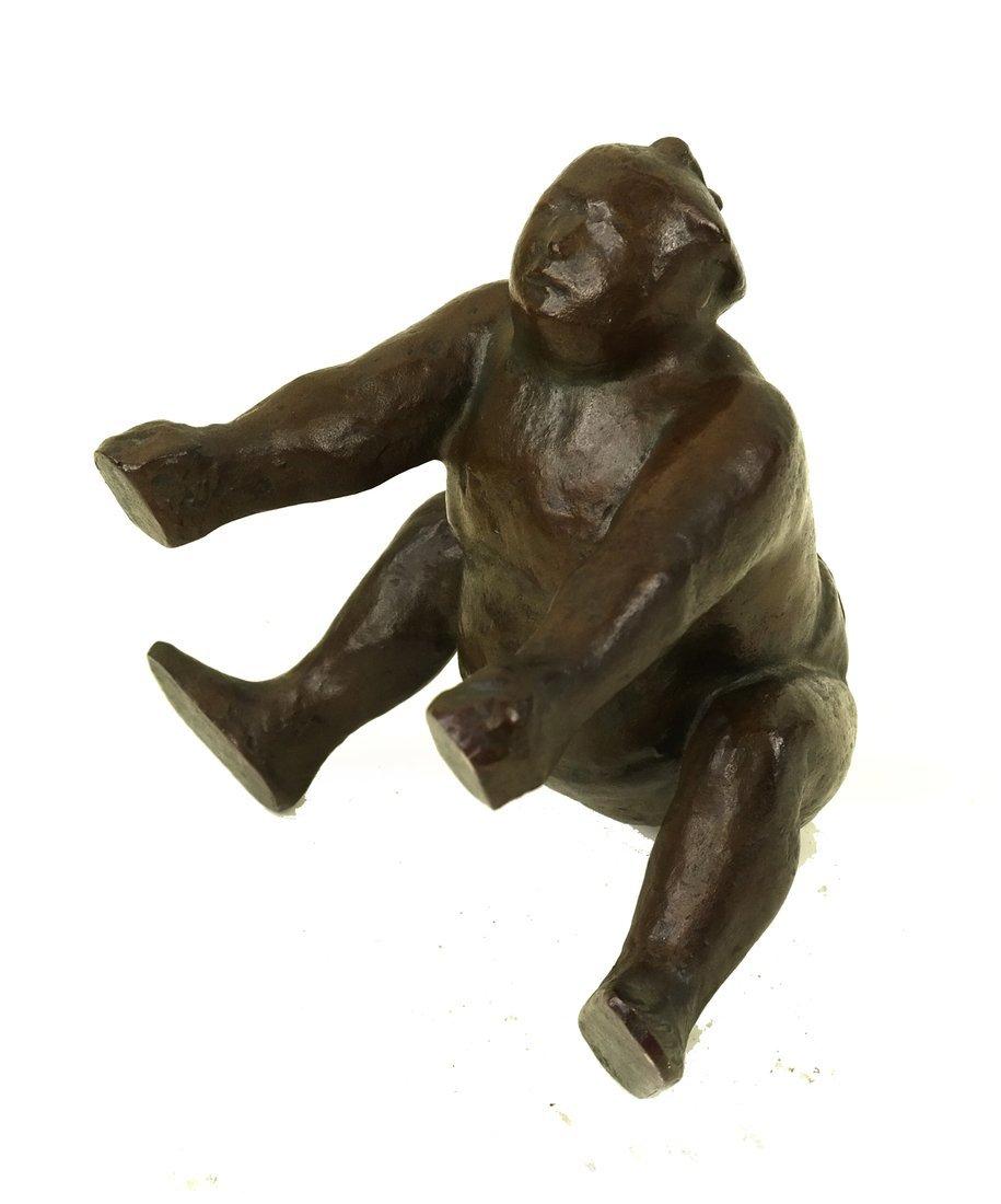 Bronze Sumo Wrestler