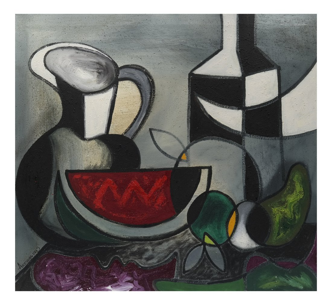 Arzvaga, Modern Still Life, Oil on Canvas
