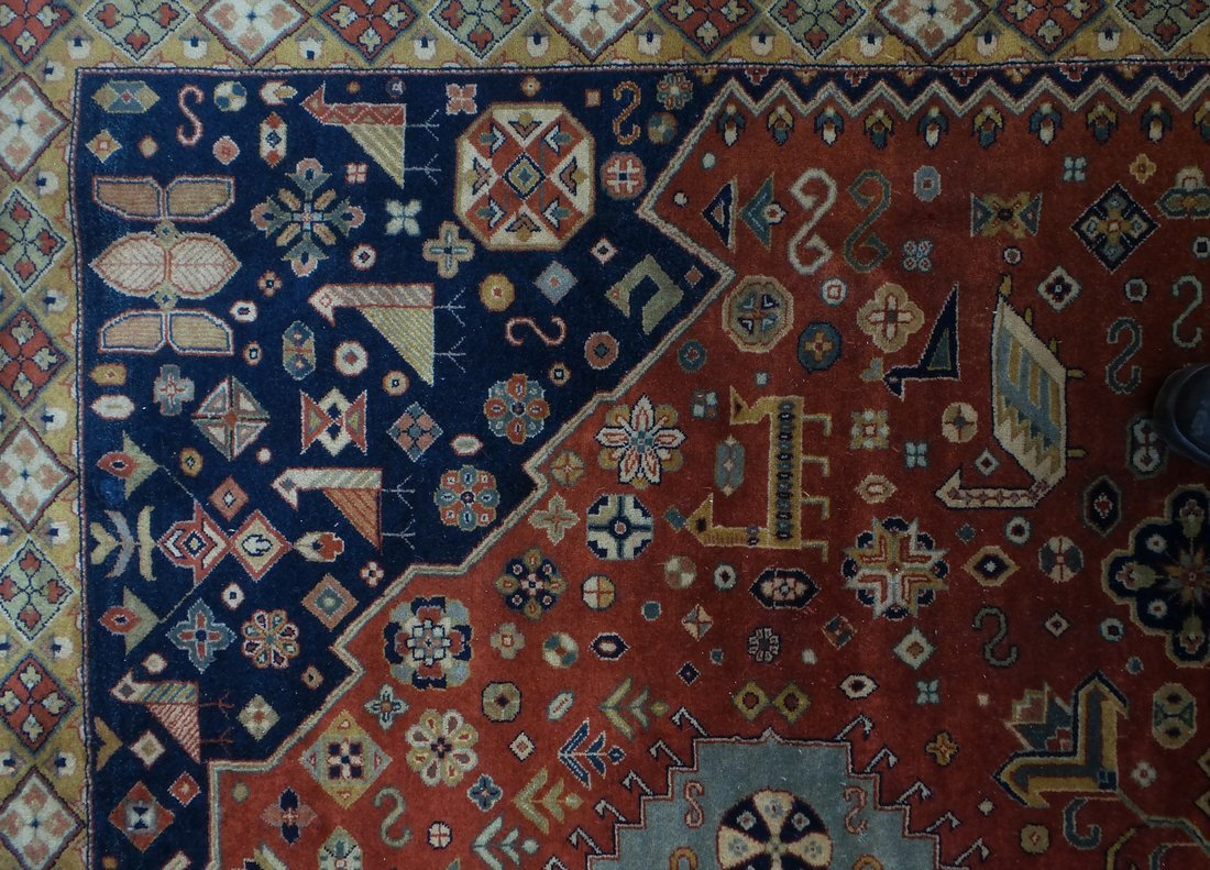 Persian Style Wool Rug - 4