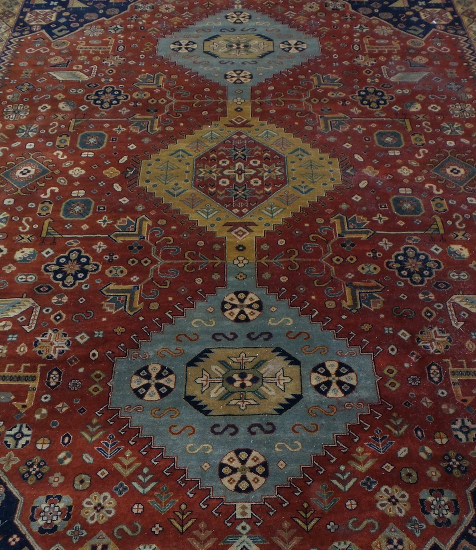 Persian Style Wool Rug - 8