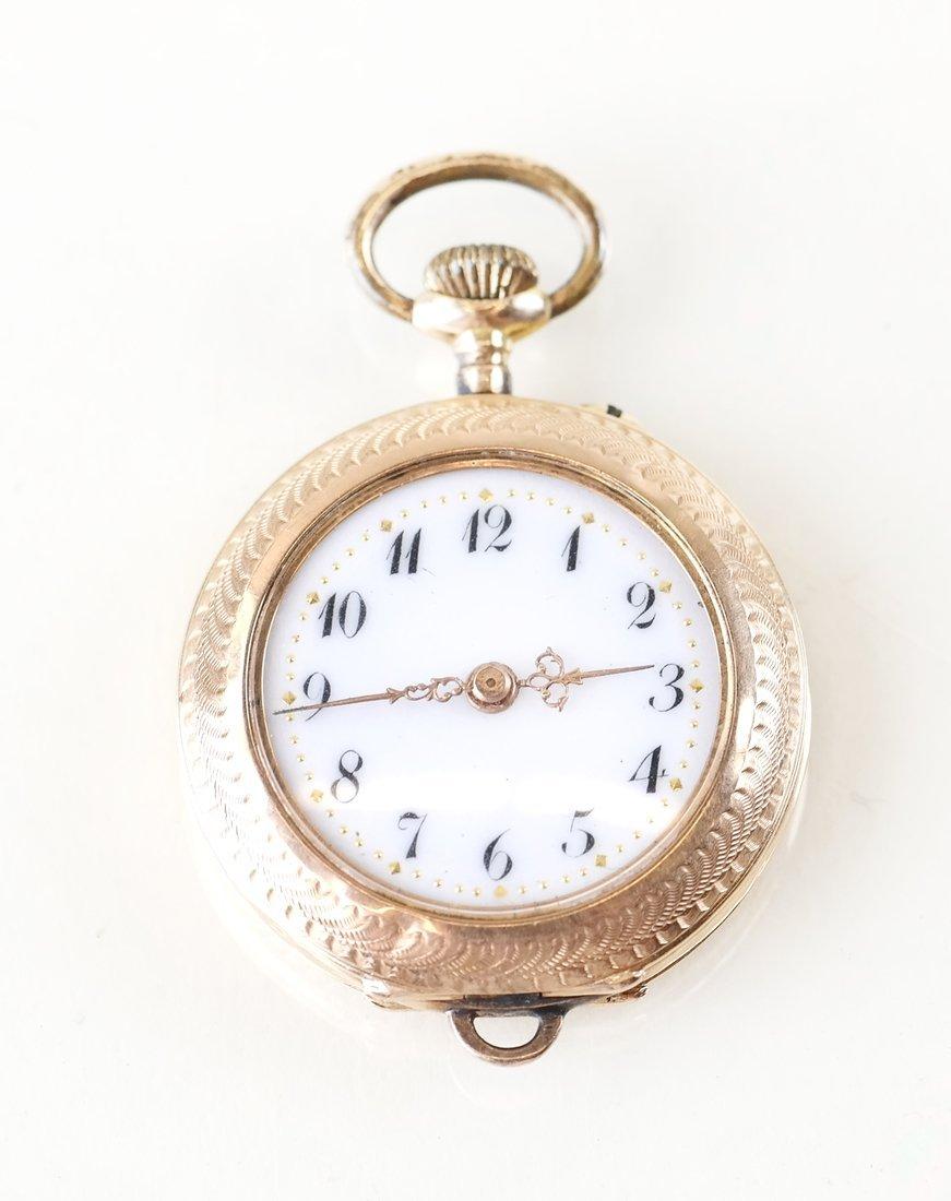 14K Yellow Gold Pocket Watch