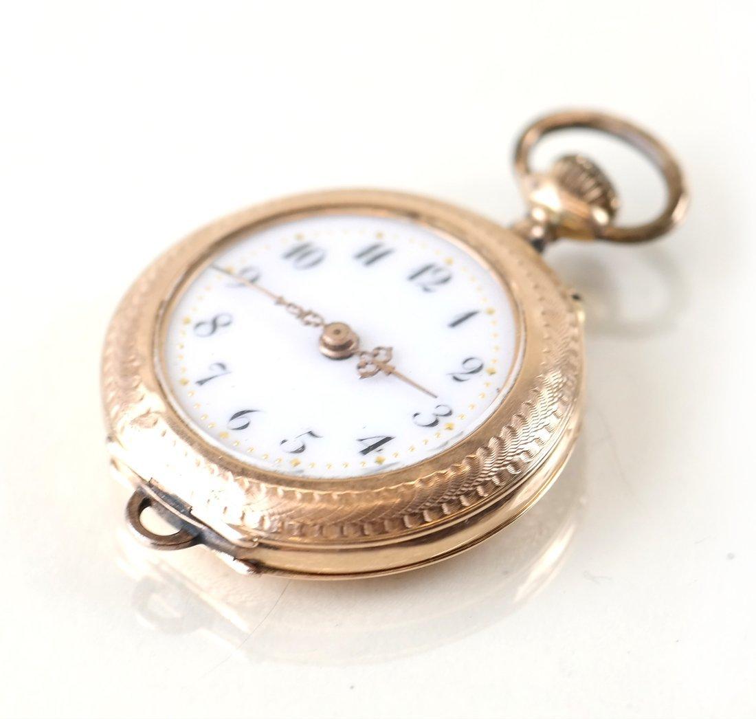 14K Yellow Gold Pocket Watch - 2