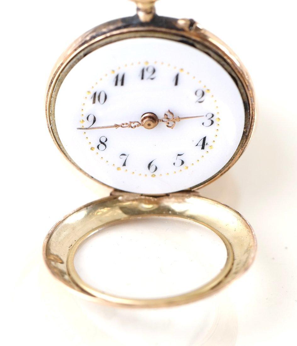 14K Yellow Gold Pocket Watch - 4
