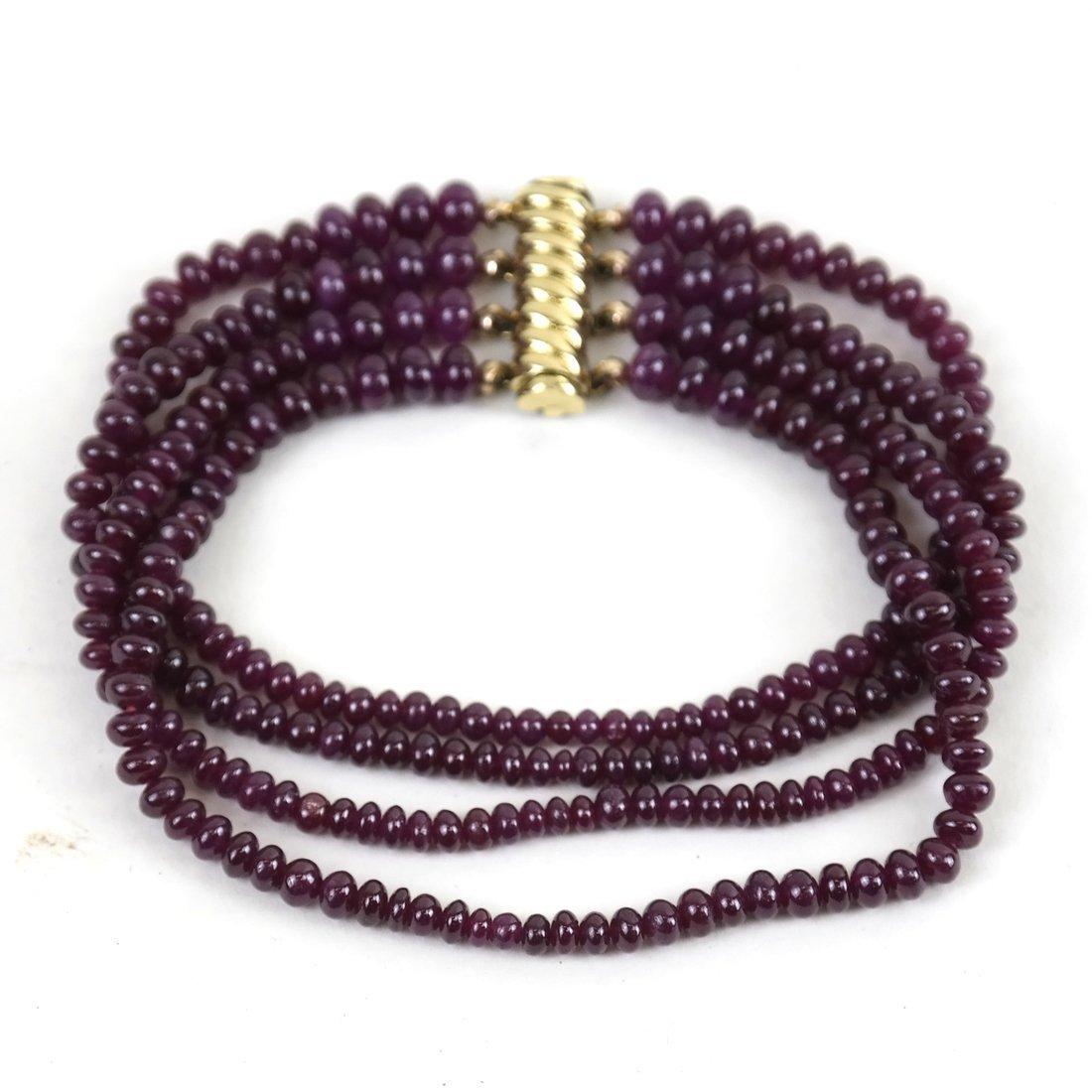 """Ruby Bracelet  14"""""""