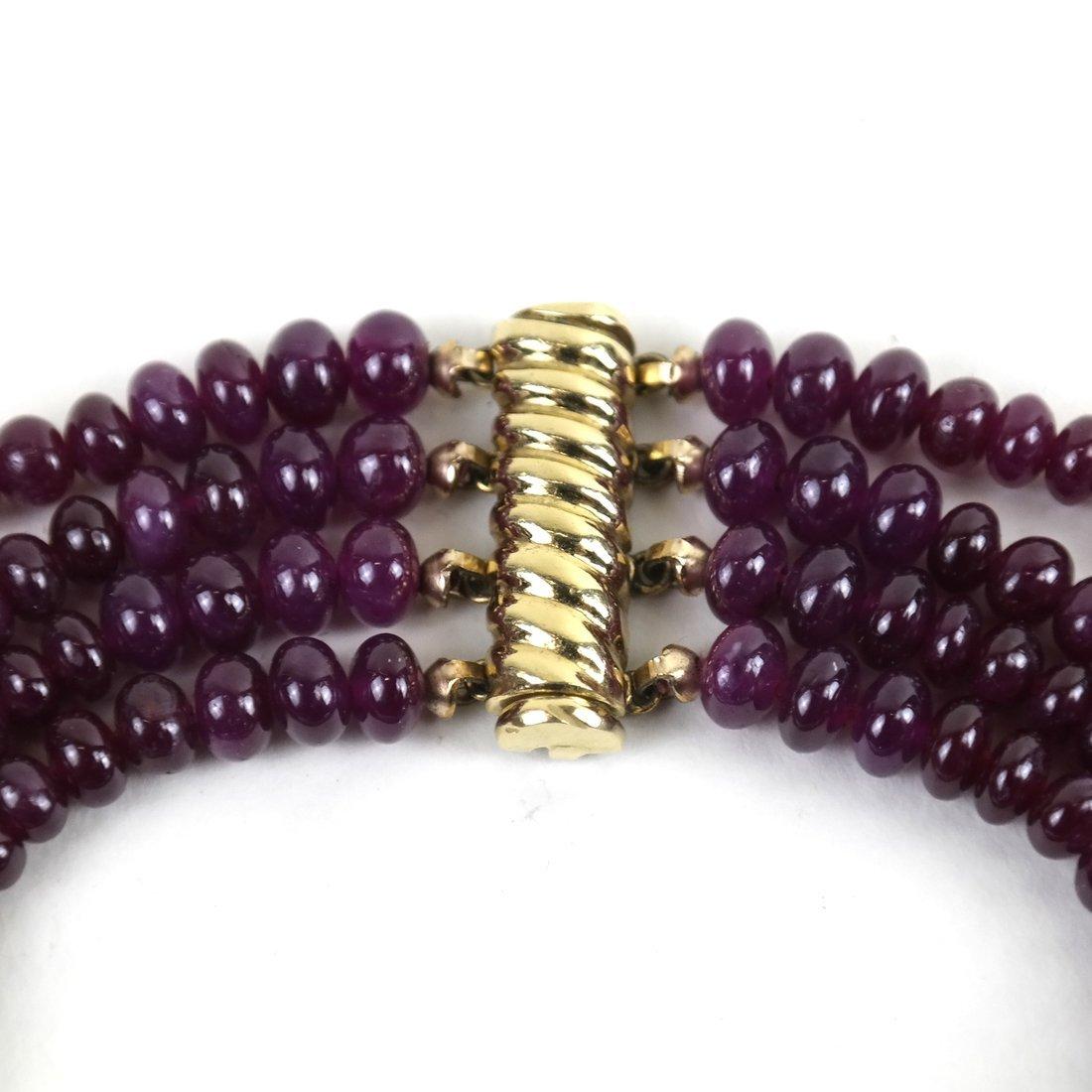 """Ruby Bracelet  14"""" - 2"""