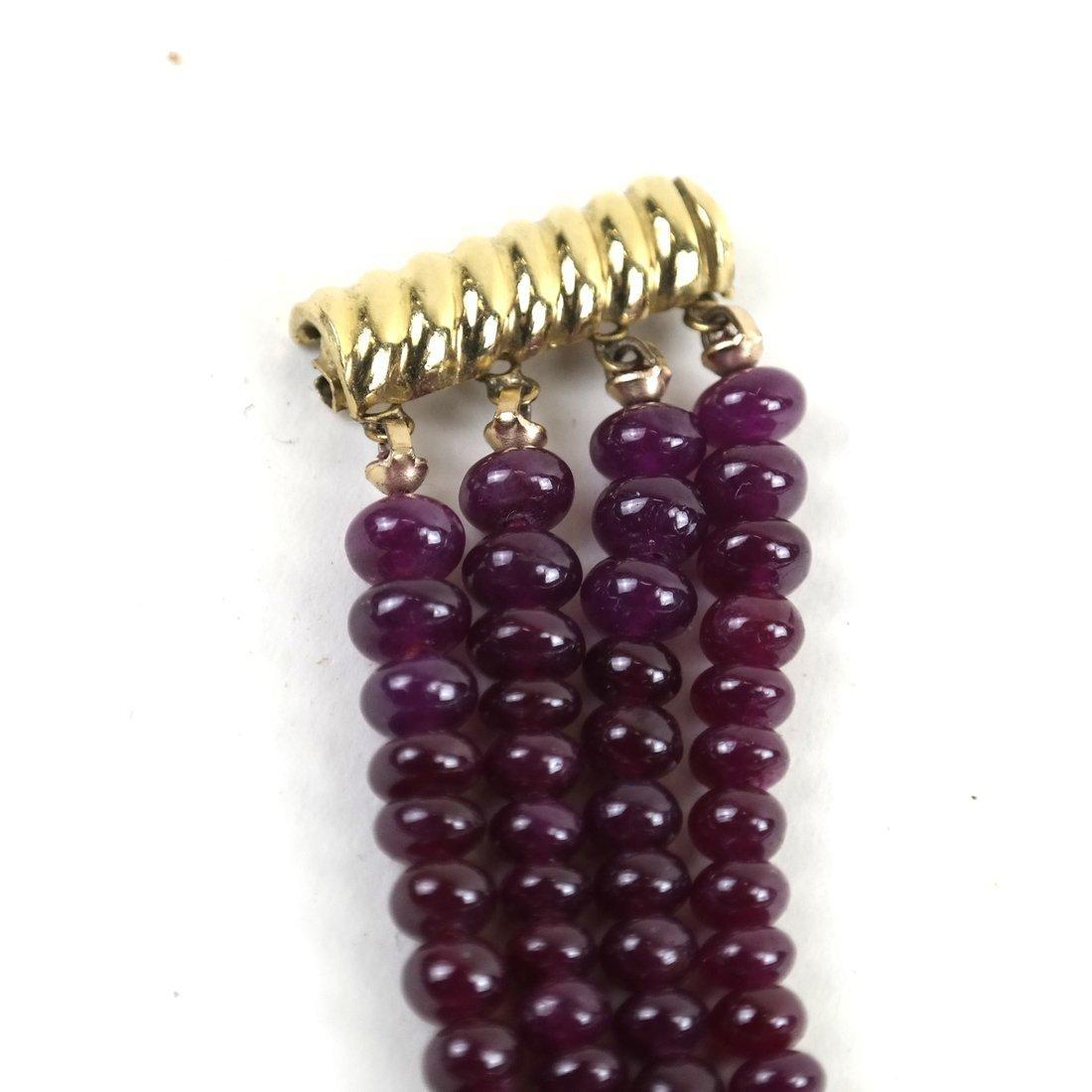 """Ruby Bracelet  14"""" - 4"""