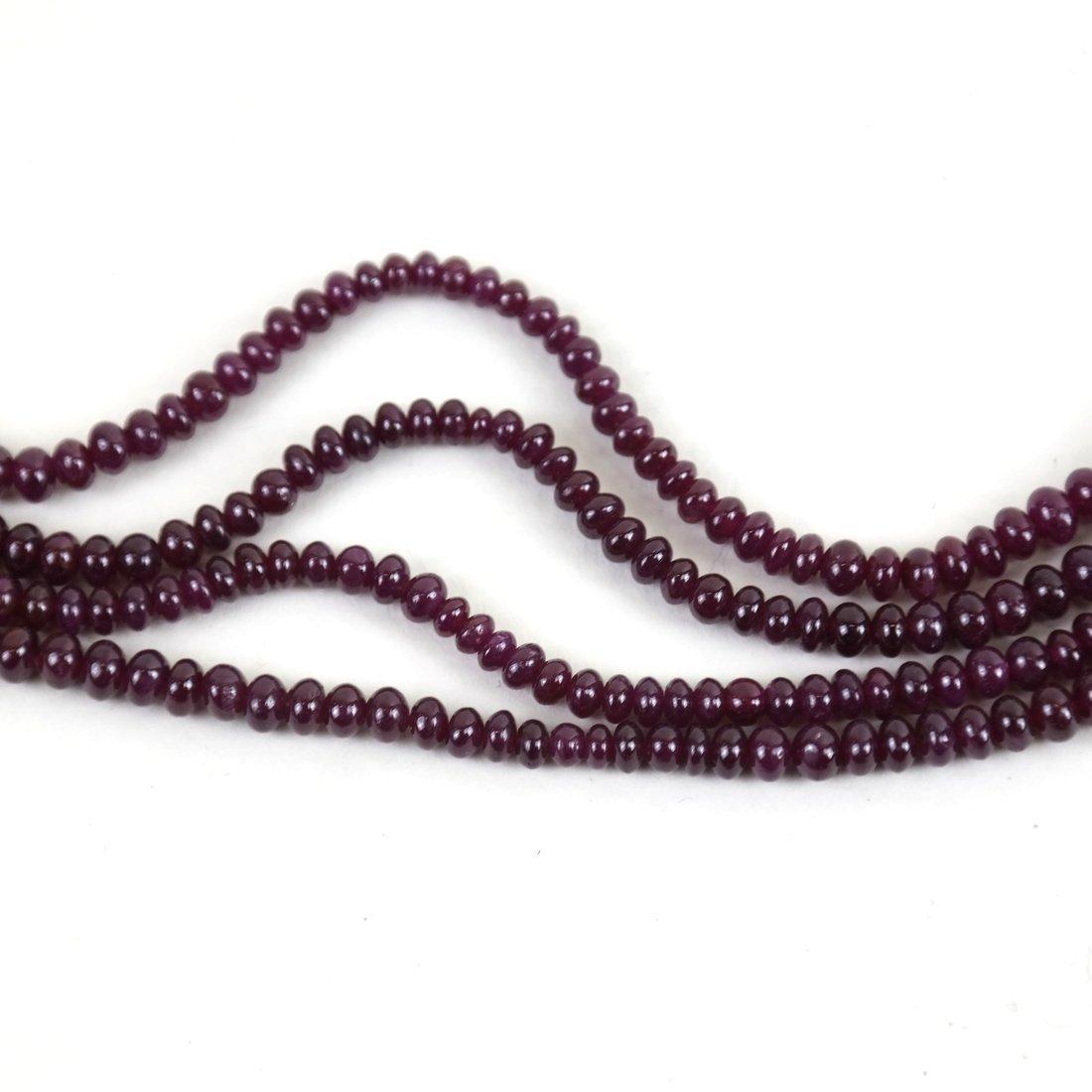 """Ruby Bracelet  14"""" - 5"""