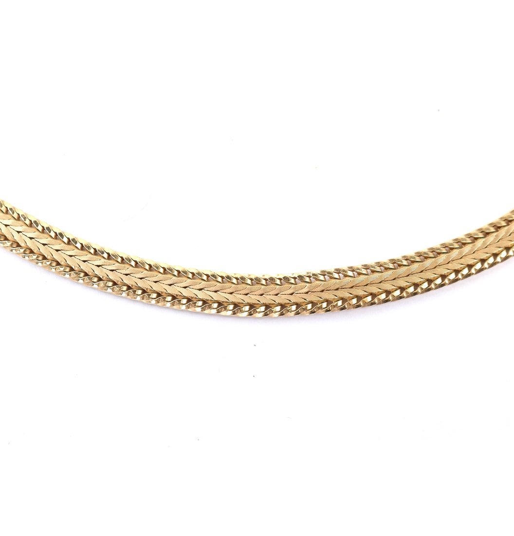 Continental Gold-Plated Mesh Choker - 3