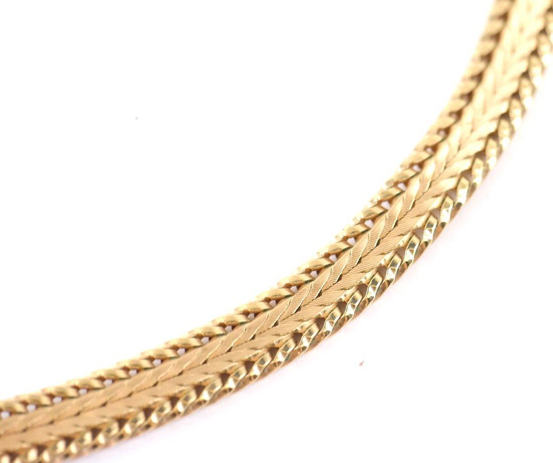 Continental Gold-Plated Mesh Choker - 5
