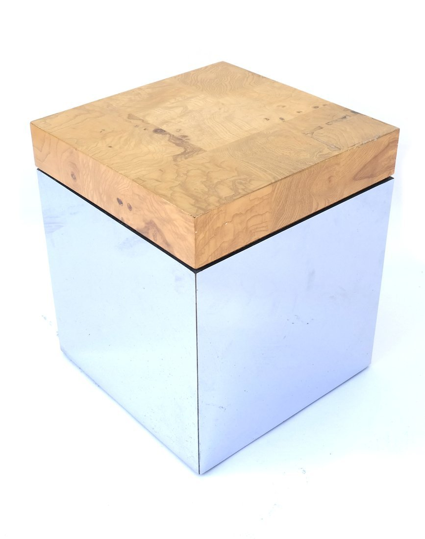 Milo Baughman-Style Side Table