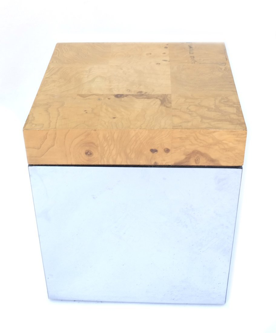 Milo Baughman-Style Side Table - 2