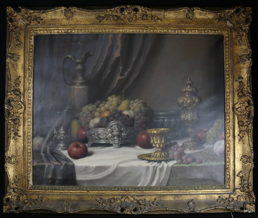 J. Friedlinger Still Life, Oil on Canvas - 2