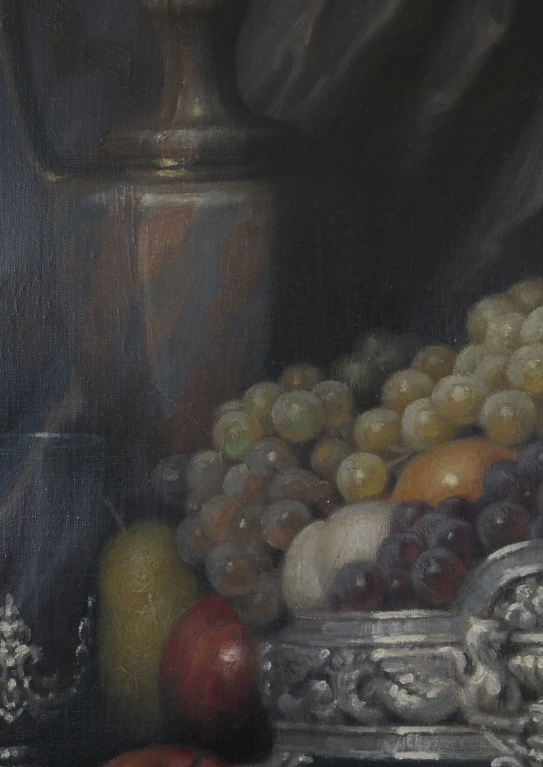 J. Friedlinger Still Life, Oil on Canvas - 5
