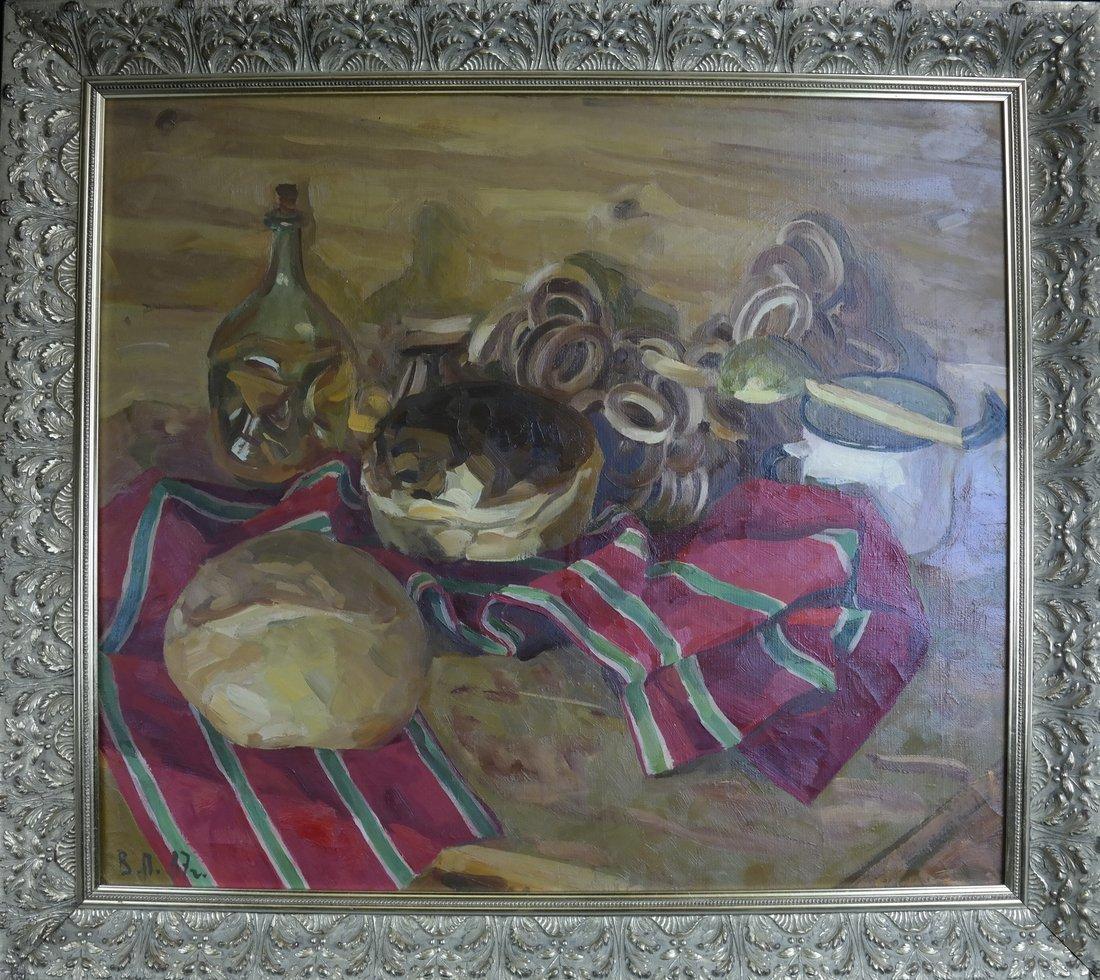 Modern Still Life, Oil On Canvas - 2