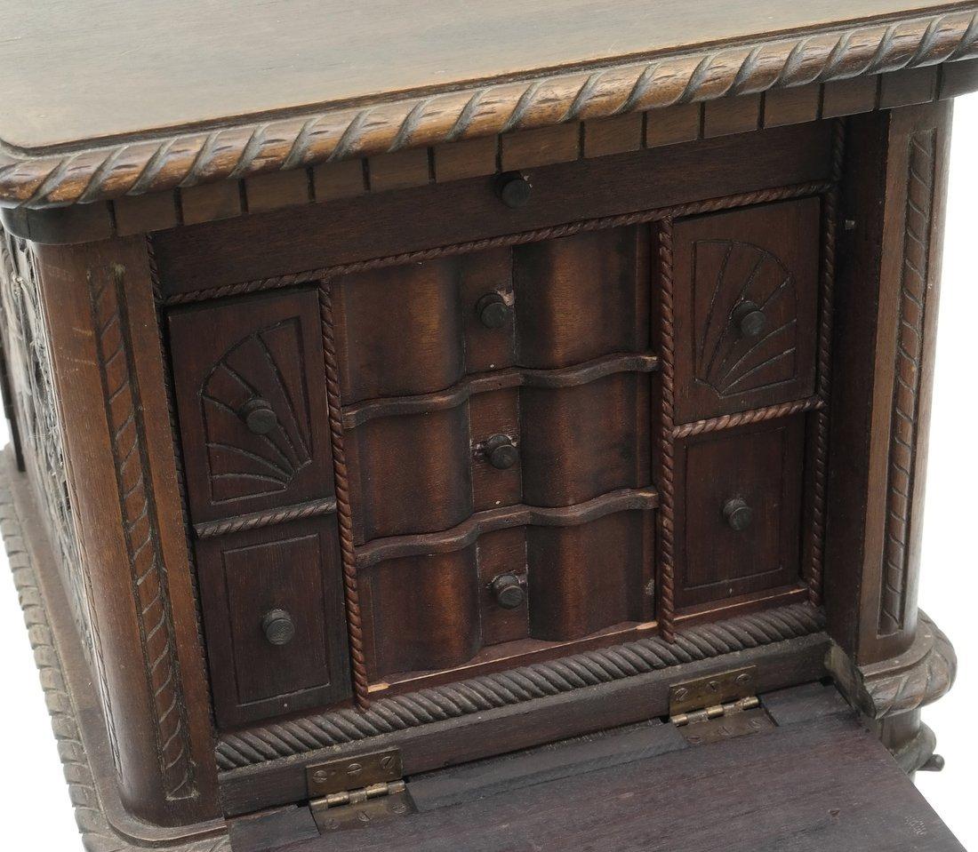 Oak Prohibition Revolving  Pedestal Cabinet - 4