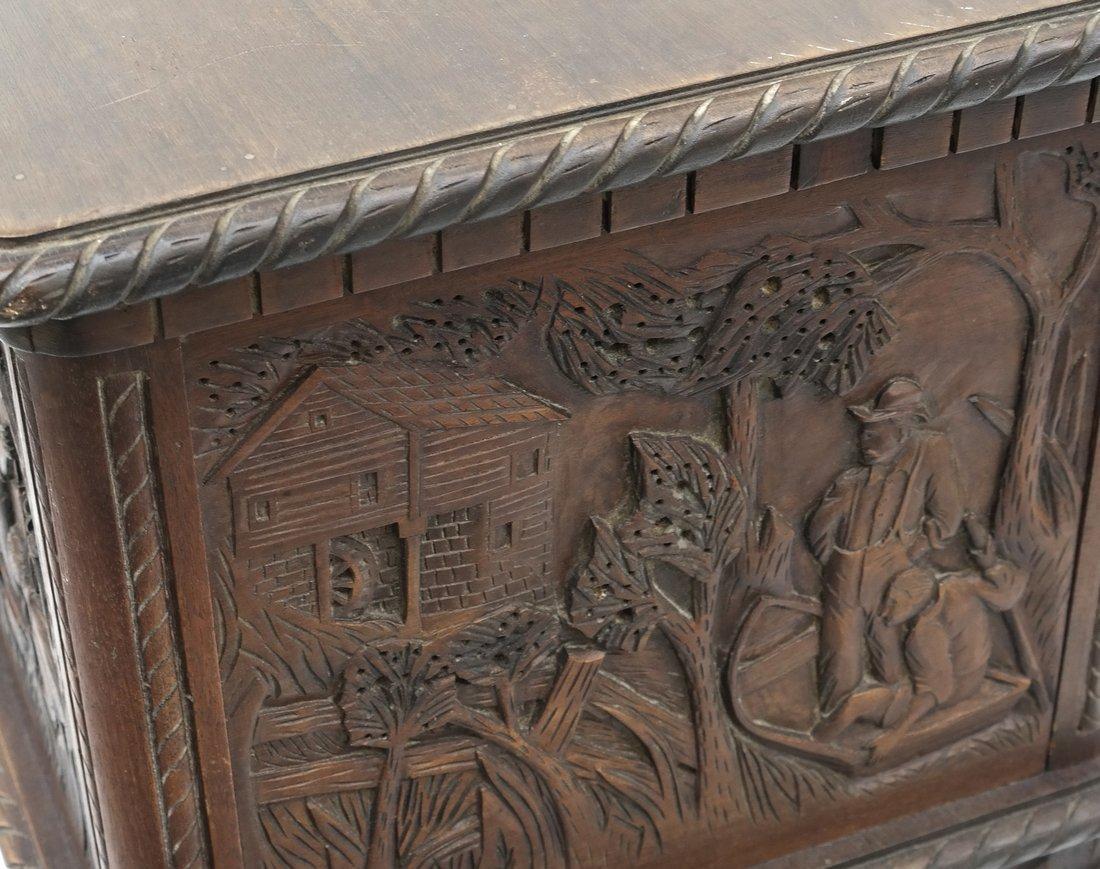 Oak Prohibition Revolving  Pedestal Cabinet - 5