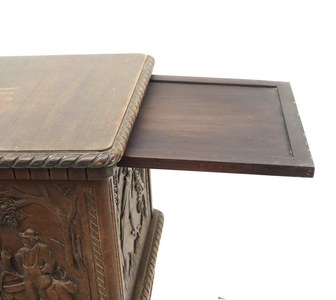 Oak Prohibition Revolving  Pedestal Cabinet - 6