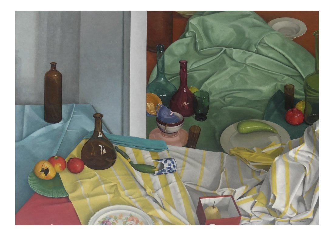 Gilbert Riou, Still Life, Acrylic/Canvas