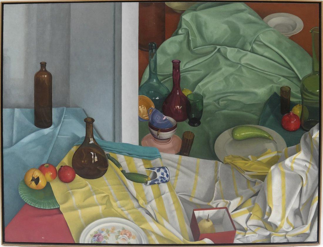 Gilbert Riou, Still Life, Acrylic/Canvas - 2