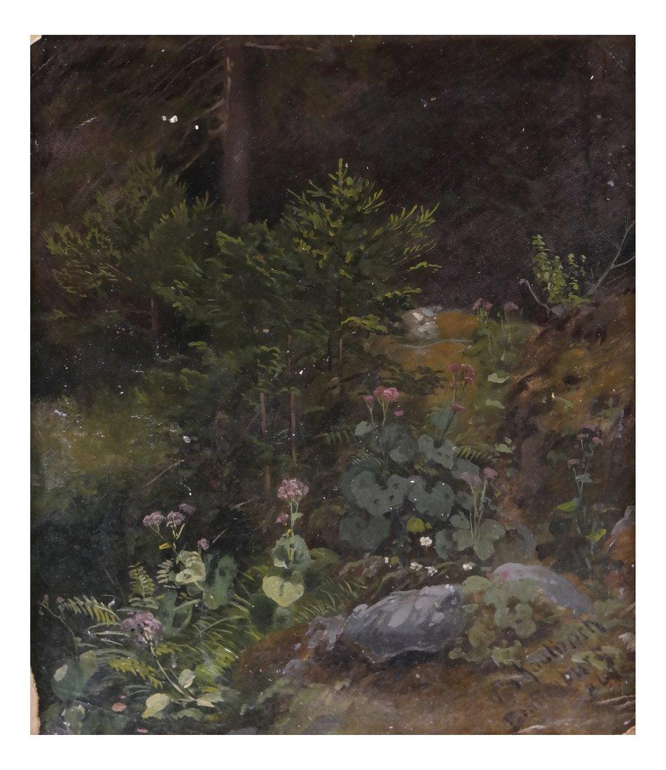 Friedrich Kaulbach, Forest Interior German painting