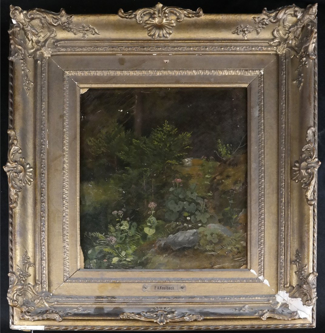 Friedrich Kaulbach, Forest Interior German painting - 2