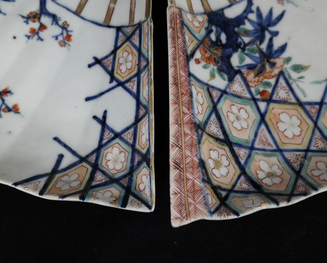 Pair of Japanese Imari Porcelain Dishes - 4