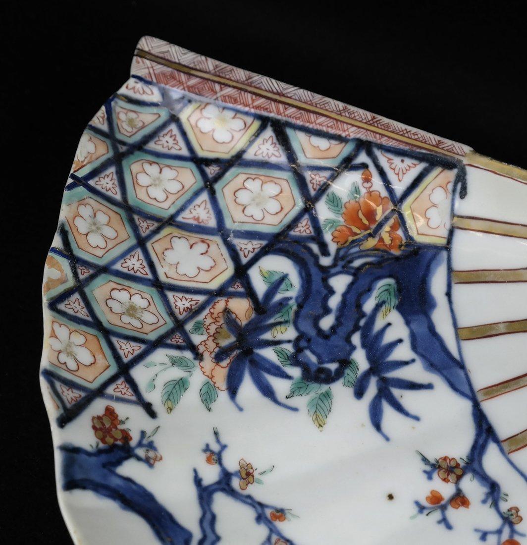 Pair of Japanese Imari Porcelain Dishes - 5