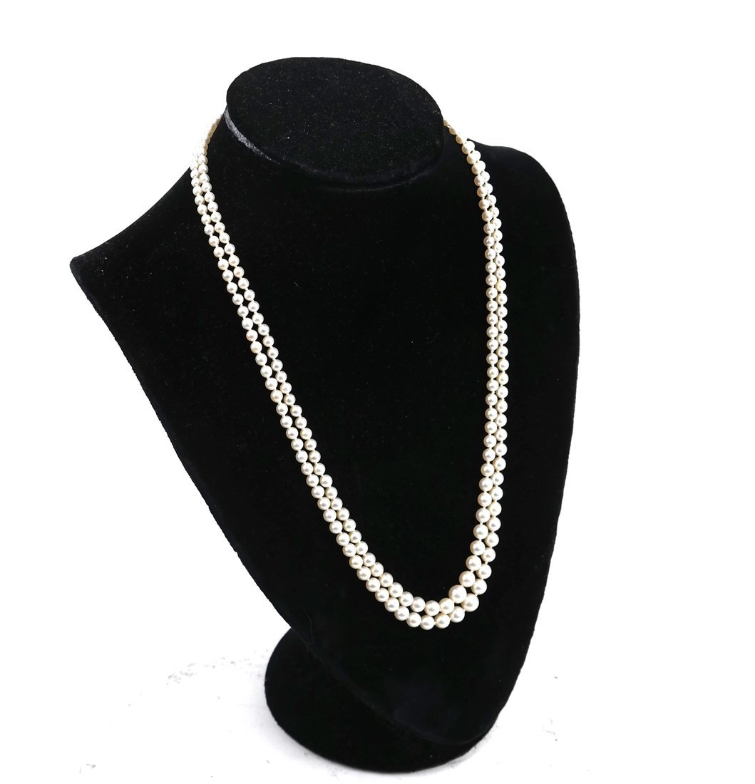 14k Gold & Jade Double Strand Pearls