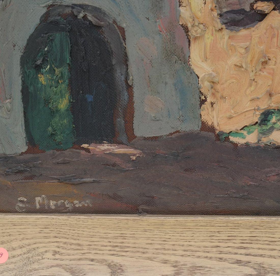 E. Morgan, Village Scene, Impasto - 3