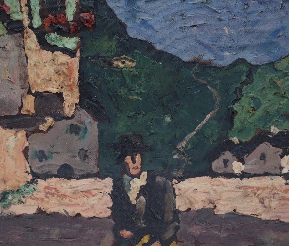 E. Morgan, Village Scene, Impasto - 4