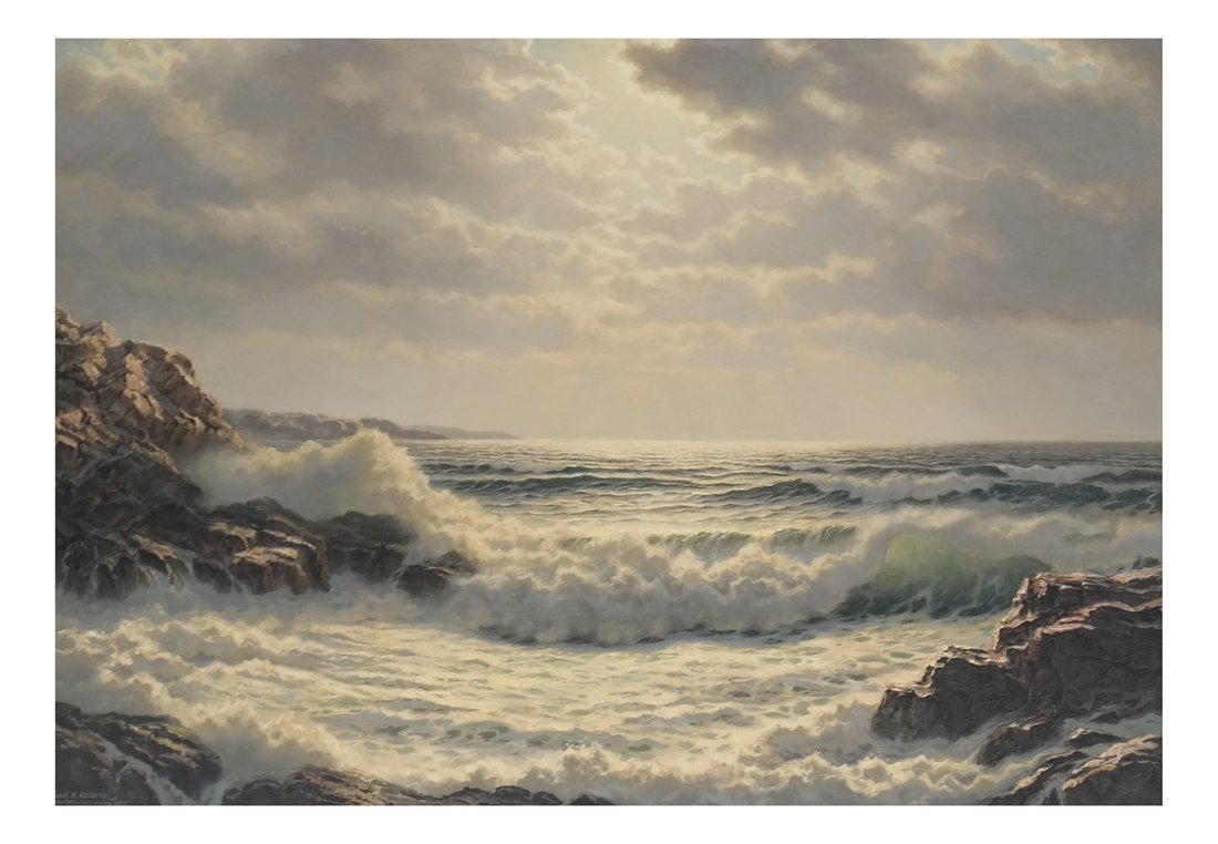 Verra Hull, Seascape, Oil on Canvas
