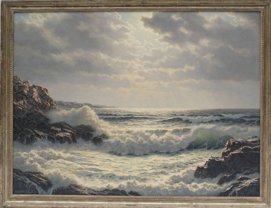 Verra Hull, Seascape, Oil on Canvas - 2