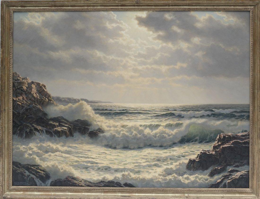 Verra Hull, Seascape, Oil on Canvas - 2
